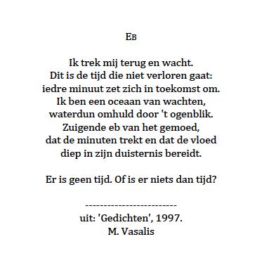 Gedicht 'Eb' M. Vasalis