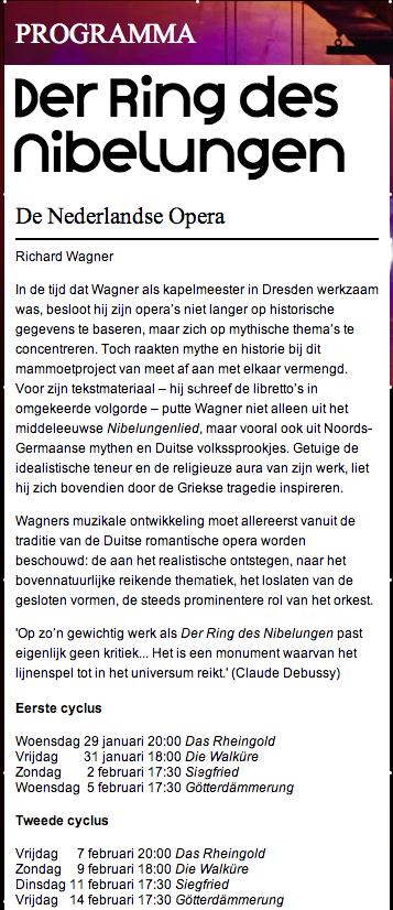 Over de Ring en Wagner