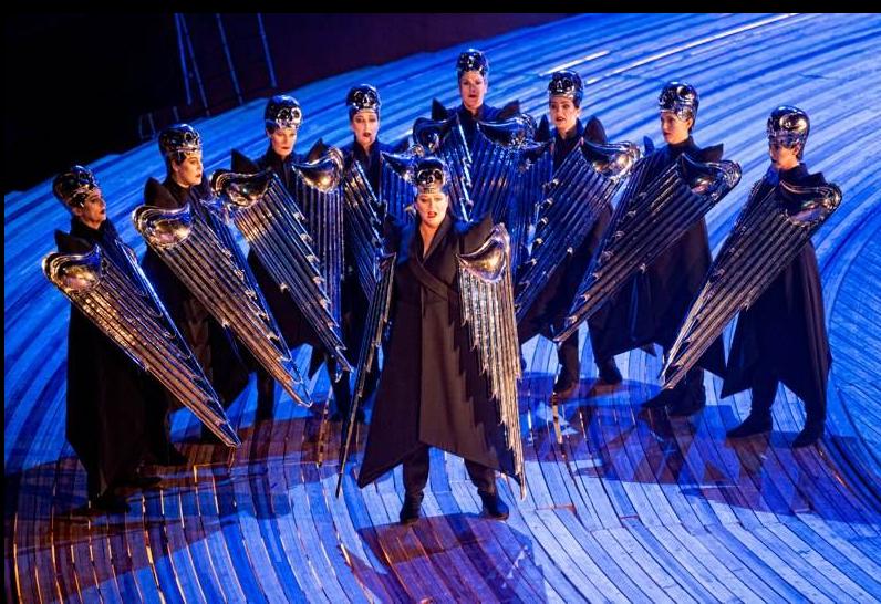 De Britse sopraan Catherine Foster (Brünnhilde) als Walküre