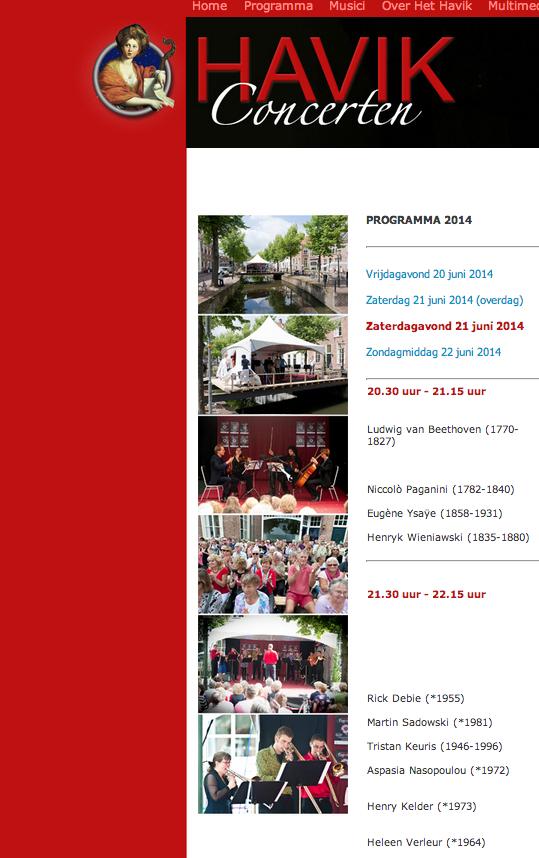 Componisten Havik Festival 21 juni 2014