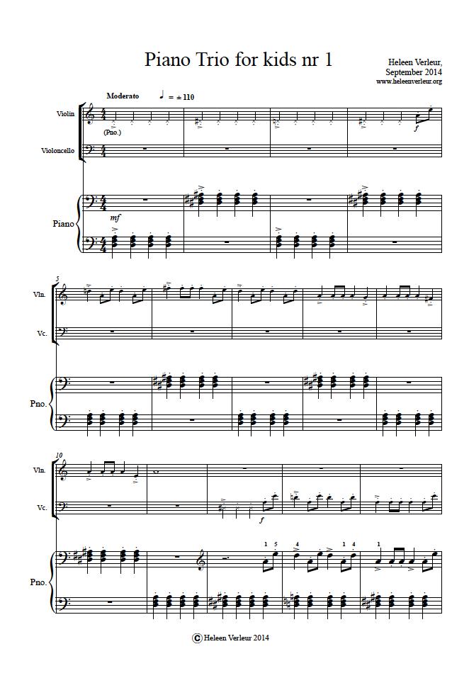 Piano Trio 1 page 1