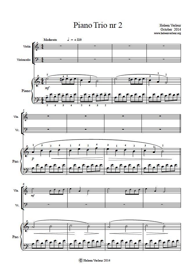 Piano Trio 2 page 1