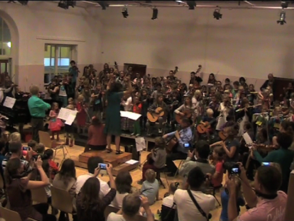 The huge orchestra