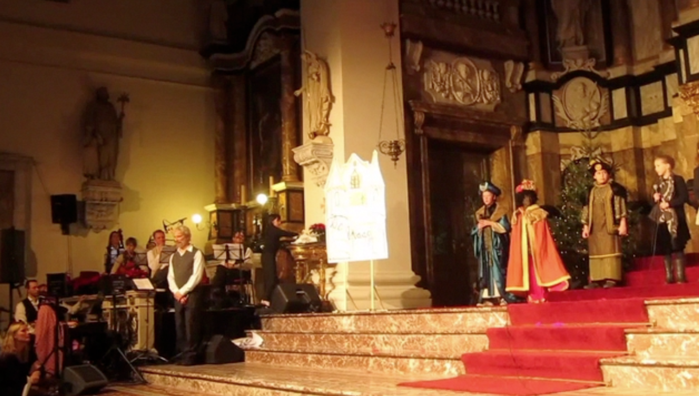Scene tijdens kerstmusical 2014