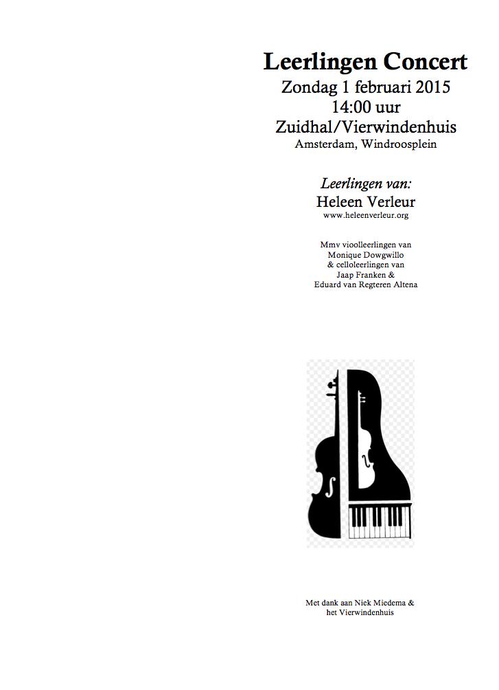 Programma Zuidhal blz 1