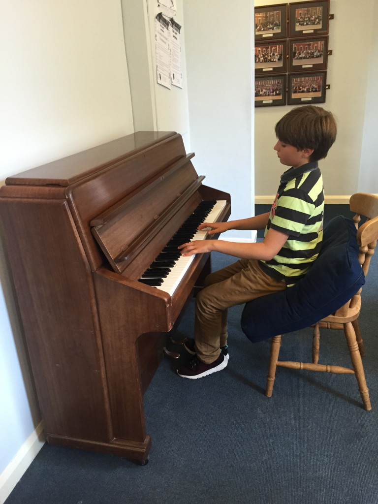 Daniel practising at Purbeck house