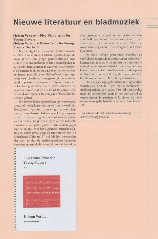 Recente recensie Epta/Piano Bulletin, jaargang 33 - 2015/2