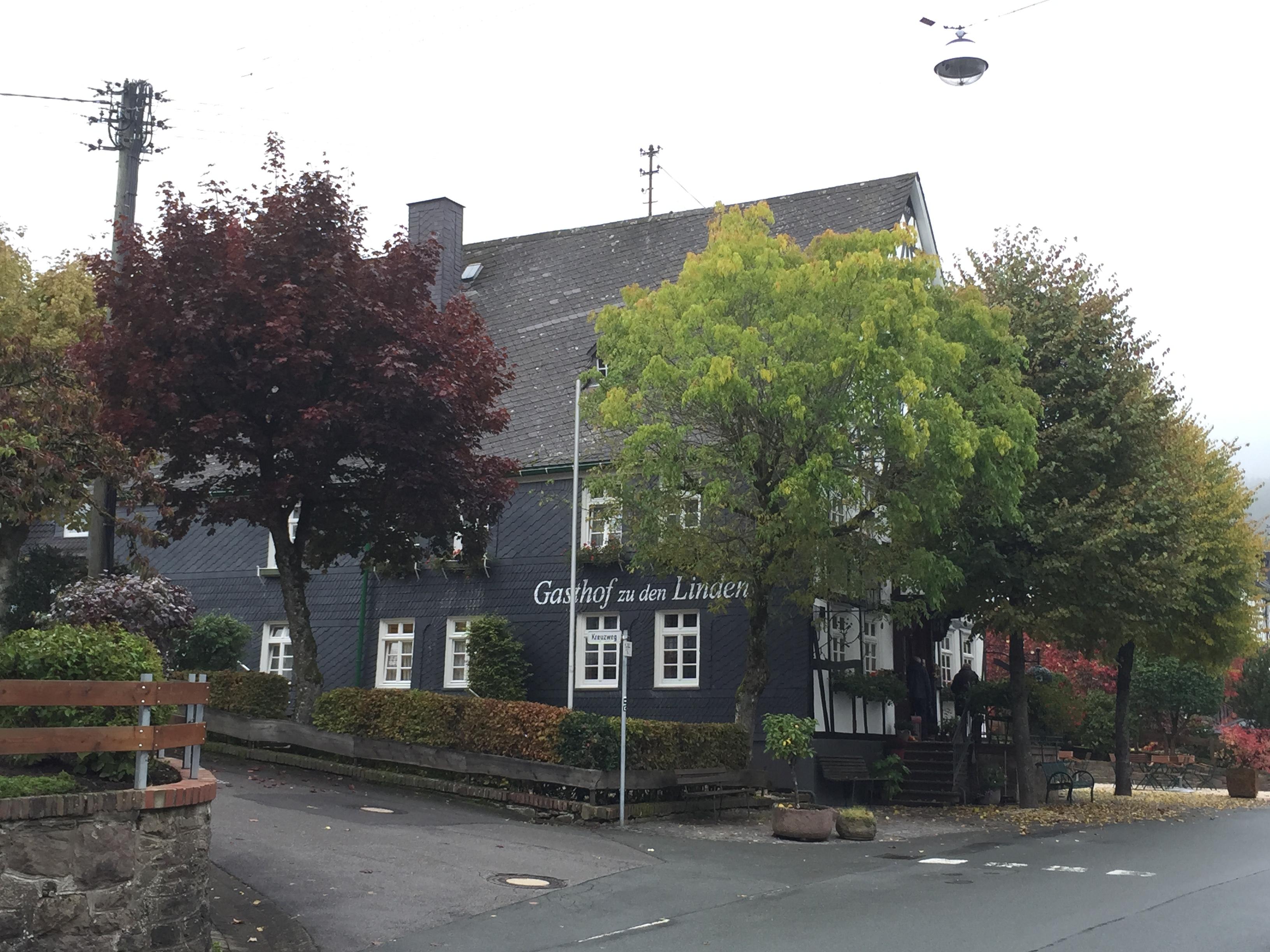 Gasthof 'Zu den Linden' (maar wij sliepen in apart huis erachter wat je niet kan zien hier)