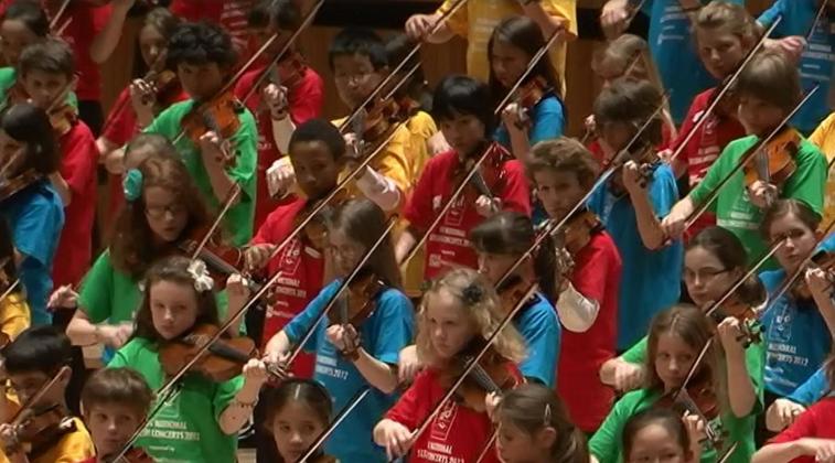 Kinderen in Royal Albert Hall
