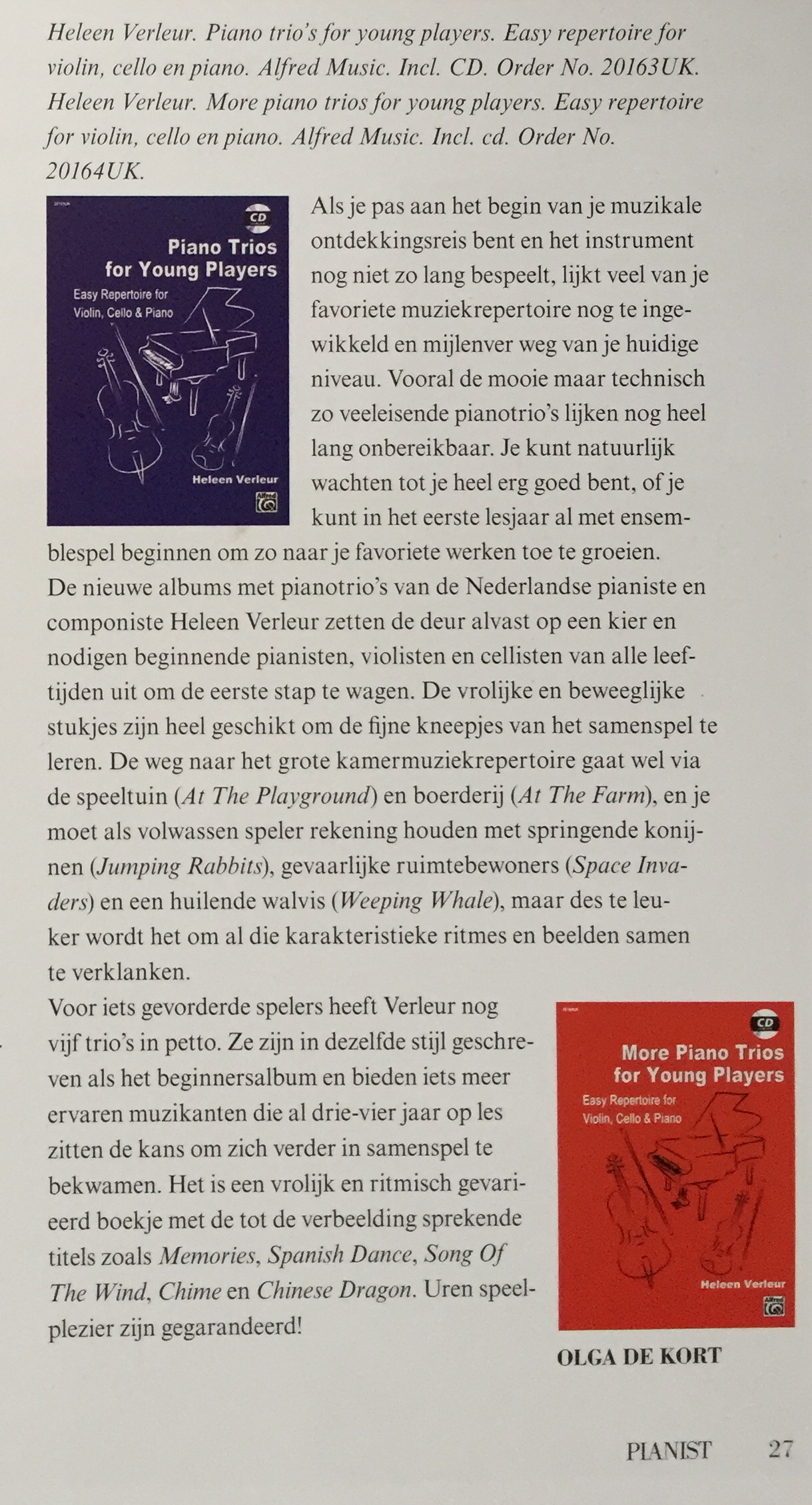 Recensie in 'Pianist' september 2016
