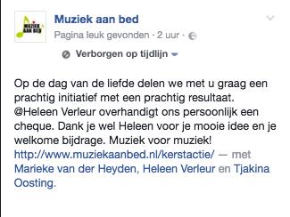 Berichtje van de Facebook site van Tjakina en Marieke