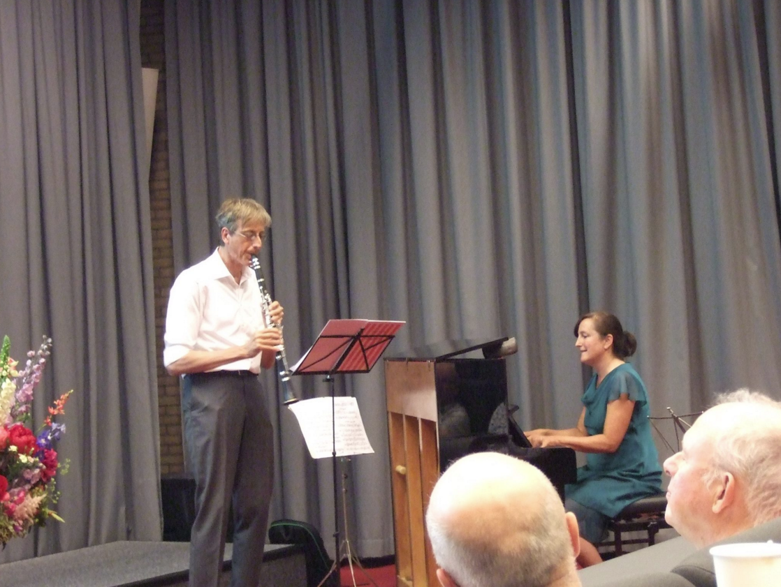 Performing 'Route 65' with clarinet player Michel Marang