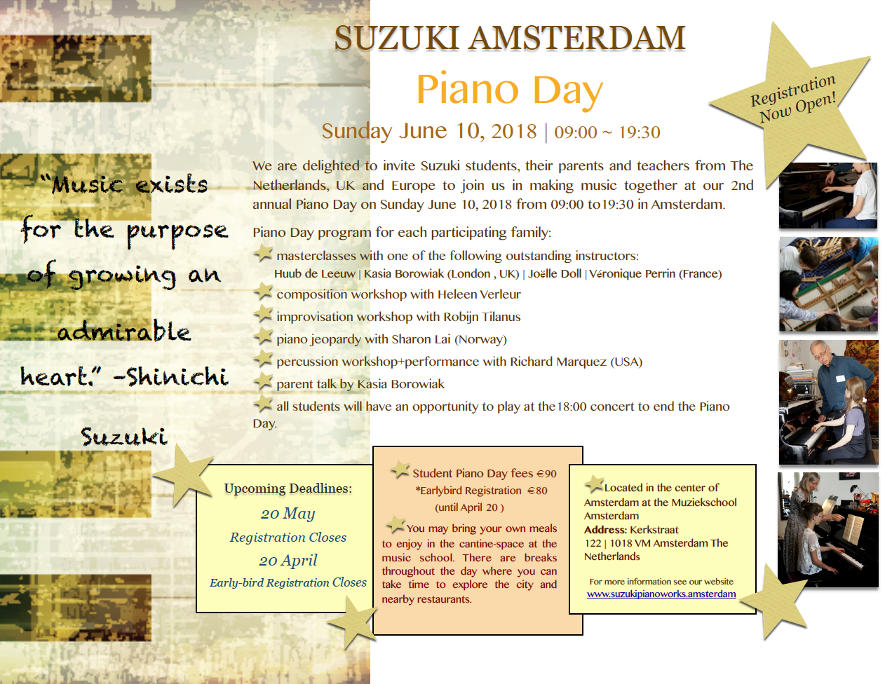 About Suzuki Piano Day