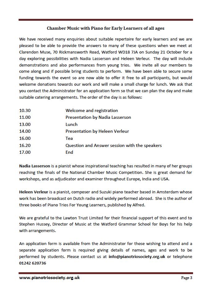 Program 21 October