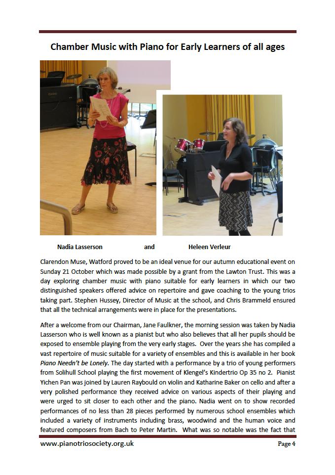 Piano Trio Society page 1