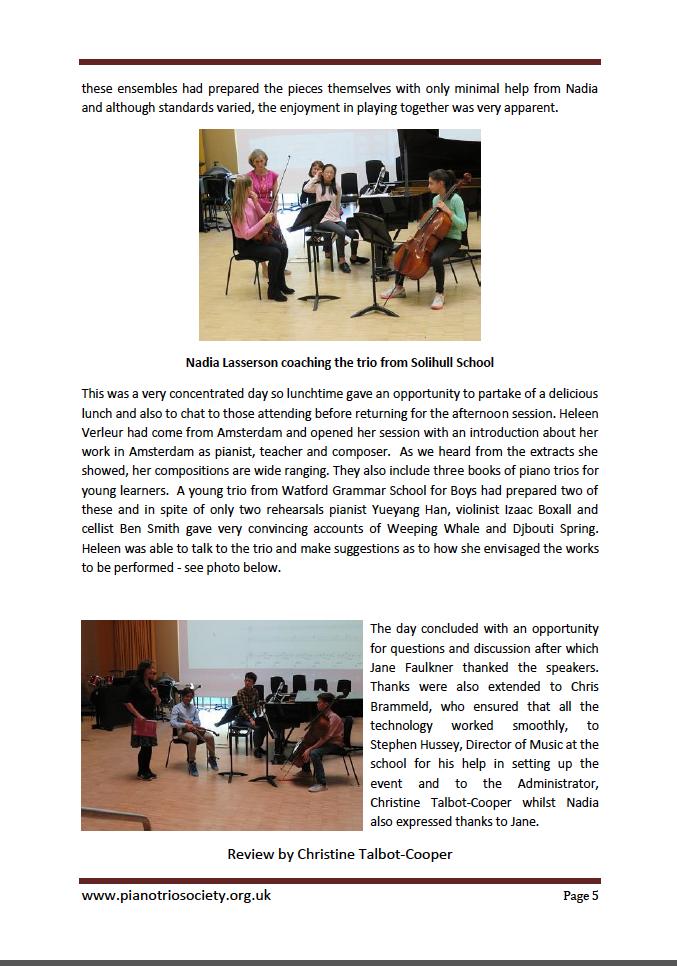 Piano Trio Society page 2