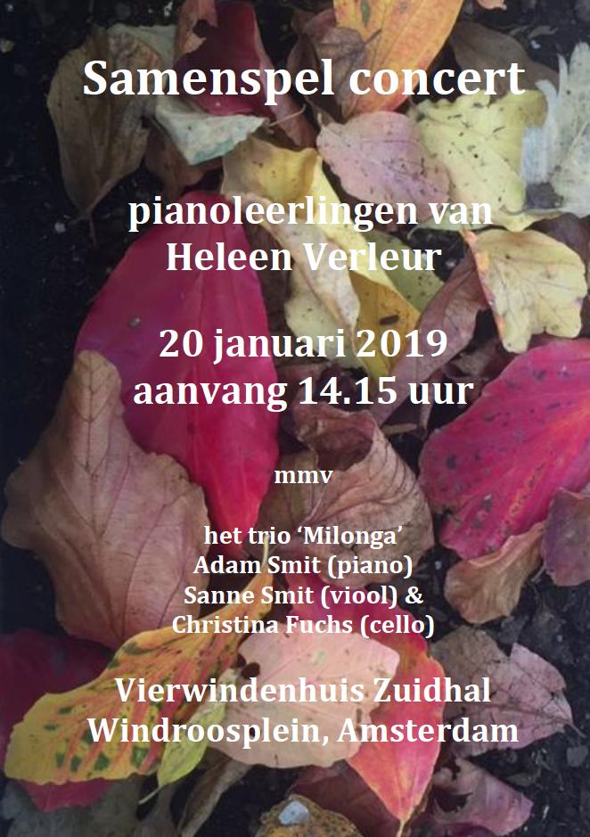 Flyer voor concert