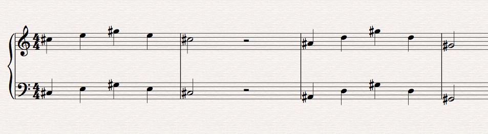 Een compositie van een jonge studente (6 jaar)