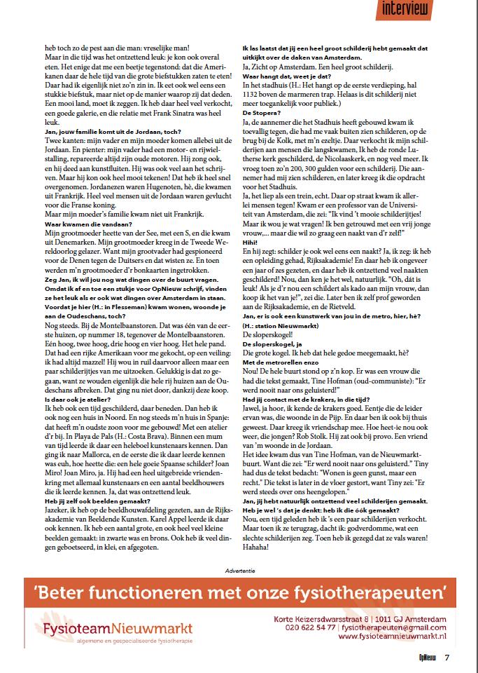 Interview voor OpNieuw juni 2019 blz.7