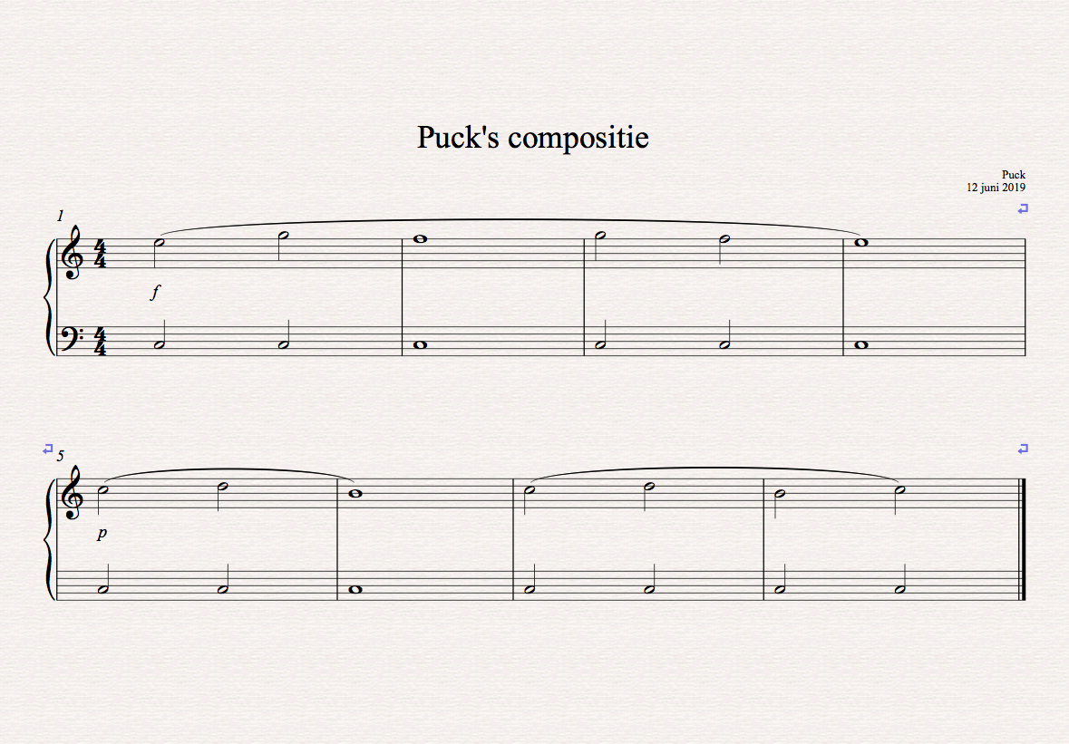 Puck's compositie