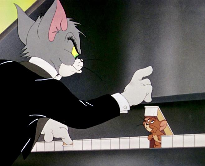 'The Cat Concerto'.  Na het zien van dit grappige Tom & Jerry filmpje met prachtige pianomuziek is Lang Lang gaan pianospelen ..