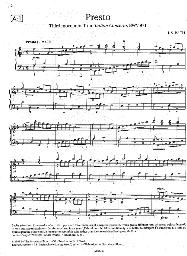 Italian Concerto 3rd part 1st page