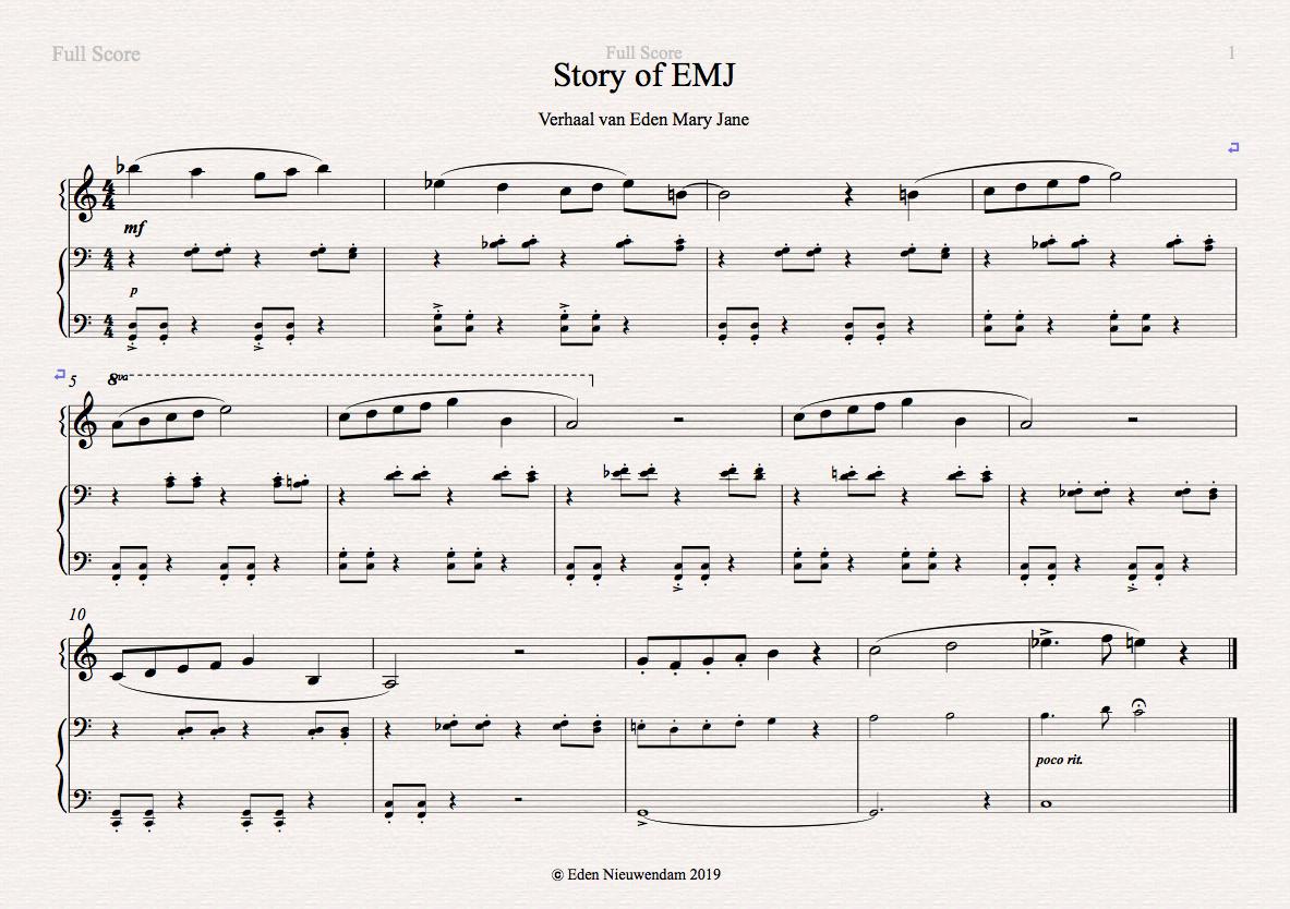 Compositie Eden met begeleiding Heleen