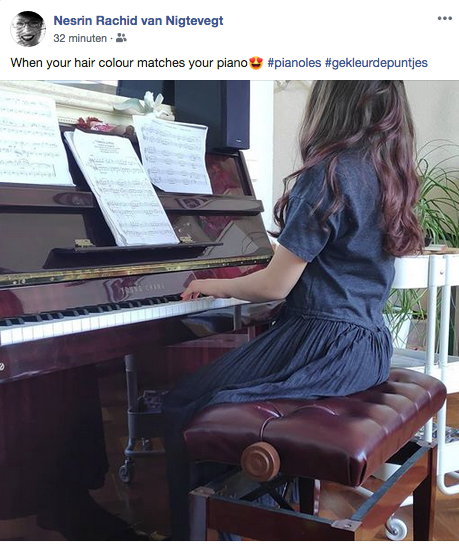 Leonora's online les op Facebook