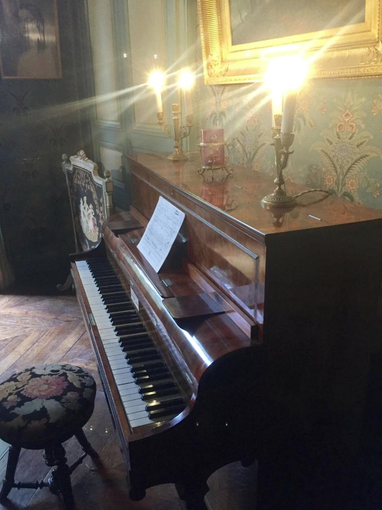 De piano van Chopin op Nohant